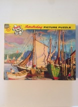 "Vintage 50s Tuco Interlocking Picture Puzzle- #5982 ""Along Cape Cod""  image 3"