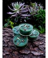 4 Lucky Mojo Wish Manifestation Money Candles Wealth Spellcast Herbal Ha... - $22.00