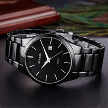 2017 New Curren quartz Tag men clock casual full steel luxury male wrist watch - $32.69