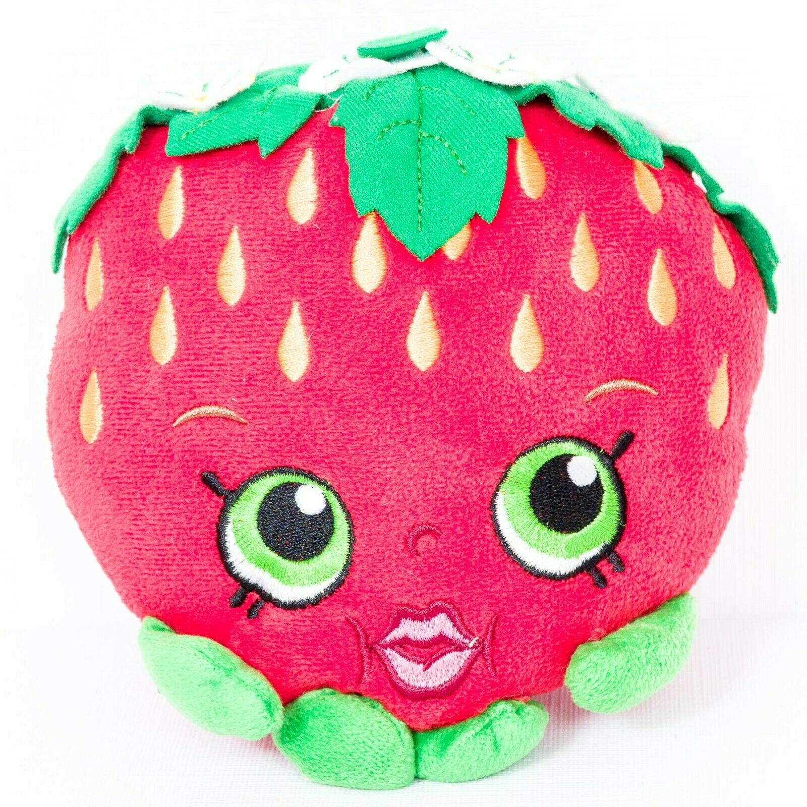 "Primary image for Shopkins Strawberry Kiss Plush 7"" Red Flowers Moose 2013 Stuffed Animal Toy"