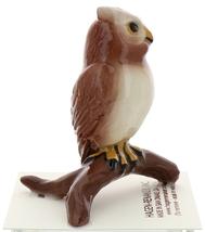 Hagen-Renaker Miniature Ceramic Bird Figurine Owl Great Horned on Branch image 4