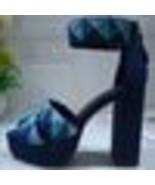 Sandals women platform Super high heel patchwork real leather summer sho... - $337.63