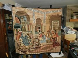 "Vintage Egypt Wall Tapestry  Souvenir 53"" x 50"" Family - $197.99"