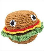 Knit Knacks Organic Crocheted Dog Toy - Hammie Hamburger - $14.69