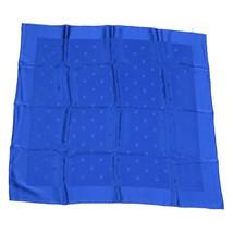 LOUIS VUITTON Silk Scarf Blue Auth pg637 - $160.00