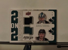 2008-09 upper deck 2 on 2 Jersey #J2-MMNT Hockey Card Marty Turco/Mike M... - $6.93