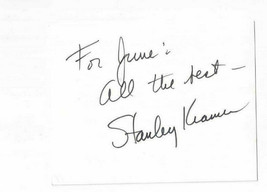 Stanley Kramer Signed Index Card / Autographed Director Caine Mutiny - $17.45