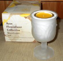 Avon Flowerfrost Collection Water Goblet & Sunny Lemon Fragrance Candlet... - $25.00