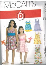 5838 UNCUT McCalls Sewing Pattern Girls Dress Easy 6 Great Looks 7 - 14 ... - $6.91
