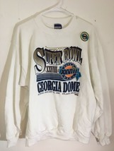 Vintage Deadstock NEW Sweatshirt 1994 Super Bowl XXVIII Georgia Dome siz... - $61.75
