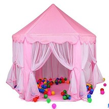Anyshock Kids Tent, Princess Castle Large Play House Tent Dollhouse Outd... - $46.35