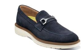 Florsheim Astor Moc Toe Bit Loafer Walking Shoes Navy Suede 13336-415 - €92,30 EUR