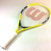 "Wilson Roger Federer 21"" Junior Youth Tennis Racket 3-1/2 16/18 Yellow U... - $14.84"