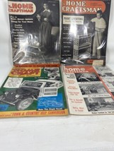 Vintage Home Craftsman Magazine 1950s Lot 4 Woodworking Crafts Furniture... - $13.05
