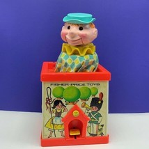 Fisher Price Jack in box 1970 toy voice creepy clown talking vintage usa... - $59.35
