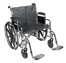 "Bariatric Sentra EC Heavy-Duty Wheelchair 20"" Wide Seat with 450 lb. Capacity - $349.95"