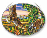 For Spacious Skies Sun Catcher AMIA Hand Painted Large Oval New Eagles Nest