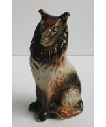 "Vintage Ceramic Sitting Collie Dog Figurine Brazil 7"" - $26.93"