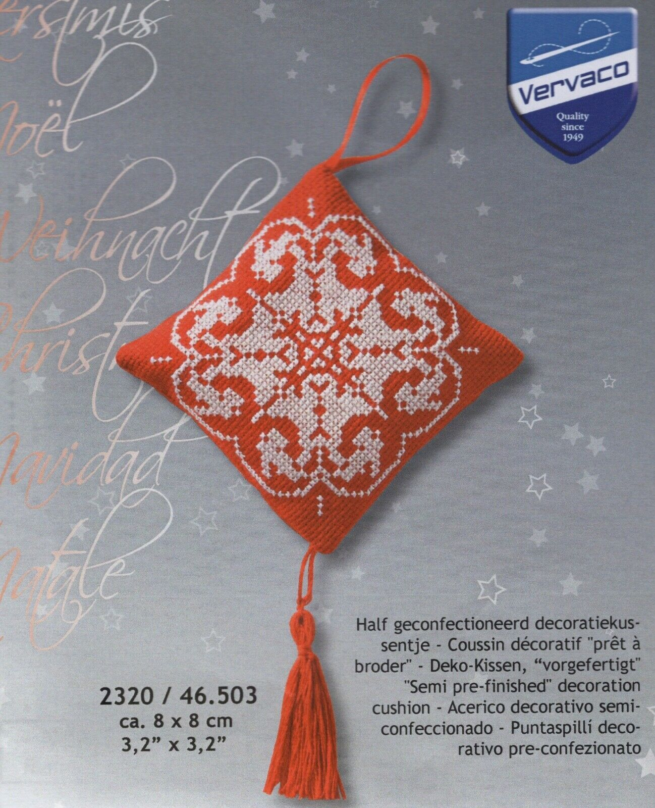 """Snowflake Tree Decoration"" counted cross-stitch kit by Vervaco - $8.67"
