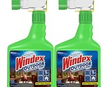 Windex Outdoor Glass and Patio Concentrated Cleaner, 32 Ounce, Pack of 2 Packagi