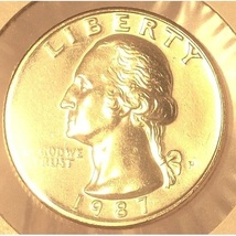 1987-P Washington Quarter GEM BU #0196 - $7.19