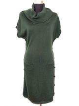 Calvin Klein Womens Dress M Green Sweater Dress Cowl Neck Pockets Career... - $39.99