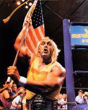 Hulk Hogan Wave Flag SFOL Vintage 28X35 Color Wrestling Memorabilia Photo - $45.95