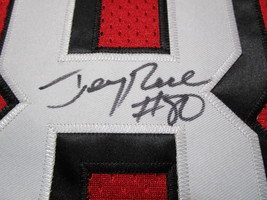 JERRY RICE / NFL HALL OF FAME / AUTOGRAPHED S.F. 49ERS THROWBACK JERSEY / COA image 4