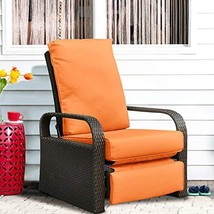Automatic Adjustable Patio Recliner Chair Relaxing Sofa Outdoor Wicker A... - $288.12