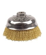 """Weiler 14606 Crimped Wire Cup Brush, 5"""", 0.14"""" Brass Fill, 5/8""""-11 UNC Nut - $115.63"""