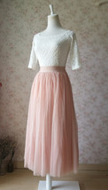 Blush Maxi Skirt and Top Set Elegant Wedding Bridesmaids Outfit NWT image 4