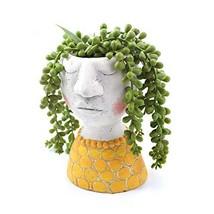 YIKUSH Head Planter Cement Flower Pot for Plant/Flower Planter - 6inches... - $21.81