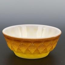 """Fire-King 5"""" Kimberly Yellow Bowl Light"""