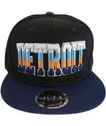 Detroit 4-Color Script Adult Size Snapback Baseball Caps (Black/Navy) - $11.95