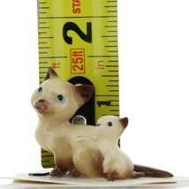 Hagen Renaker Miniature Cat Siamese Mama and Kitten Boxing Ceramic Figurines image 2