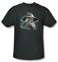 The Hobbit Gandalf the Grey Bust over Name T-Shirt Lord of the Rings NEW... - $19.34+