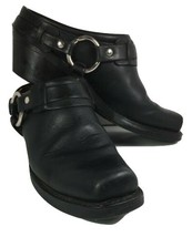 Frye Black Leather Harness Clogs- Distressed-Women's 8.5 M- Made In USA - $61.10