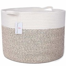 "XXL Woven Cotton Rope Basket 20"" x 20"" x 13.3"" | Decorative Extra Large ... - $42.97"