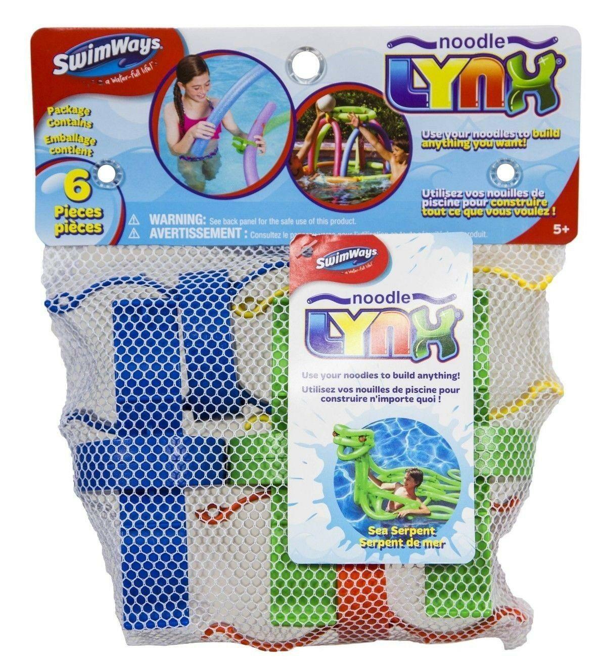 SwimWays Pool Noodle LYNX Links Connectors Pool Toys 6-pack Playset NIP