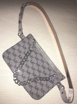 Michael Kors Fanny Pack Belt Grey Multi MK Logo Silver Chain  Retail $55  - $49.99