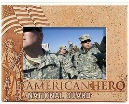 National Guard American Hero Laser Engraved Wood Picture Frame (5 x 7) - £24.36 GBP