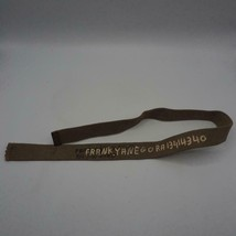 Vintage WWII World War 2 US Army Green Canvas Belt Named - $19.79