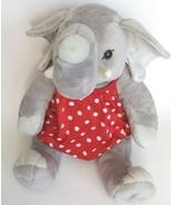 Build a Bear  Elephant Plush Stuffed Animal Red Polka Dot Shirt retired ... - $12.86