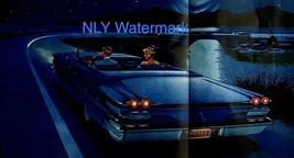 Print Ad Pontiac Bonneville Convertible Car 1960 Blue 28 1/2 X 13 5/8 - $16.38