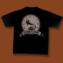 SYSTEM OF A DOWN, SOAD - CLOCK & GRAMOPHONE GENERIC BAND, CONCERT SHIRT ... - $11.82
