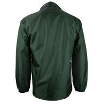 Renegade Men's Lightweight Water Resistant Button Up Windbreaker Coach Jacket image 7