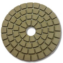 "KENT Economy Quality 4"" WET WHITE Buff Polishing Pad, Hook and Loop Backing - $7.43"