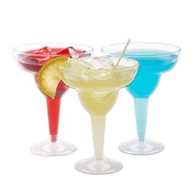 Plastic Margarita Glasses   11.5 oz.  – 50 Pack   Hard Clear Plastic Coc... - $24.71