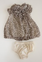 First Impressions 0-3 M Leopard / Animal Print Bubble Hem Dress Bloomers... - $16.80