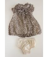 First Impressions 0-3 M Leopard / Animal Print Bubble Hem Dress Bloomers... - $16.80